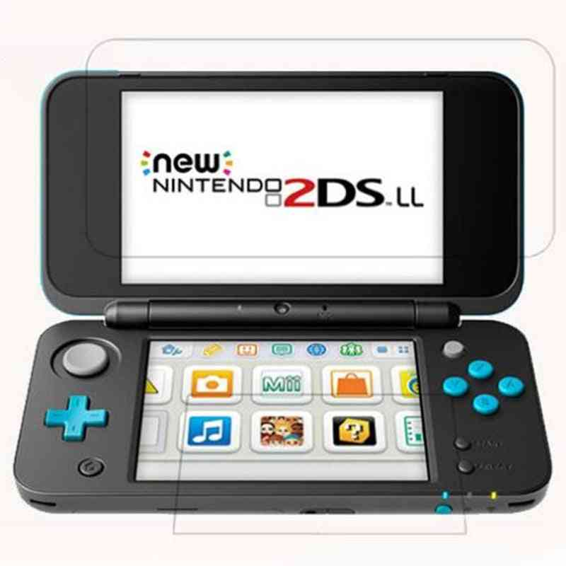 Glass  New 2ds Xl Ll 2dsxl 2dsll 2 Ds Up + Down Screen Protector Game Console Protective Film Guard