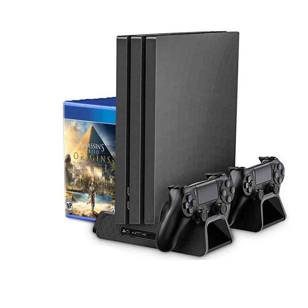 3-in-1 Powerful Cooling Stand For Playstation - Vertical Bracket