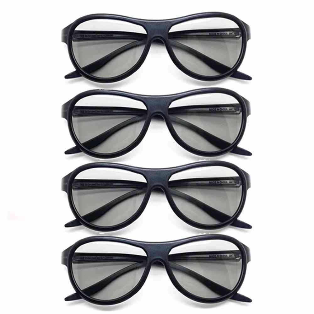4pcs/lot Replacement Ag-f310 3d Polarized Passive Glasses For Lg, Tcl Samsung / Sony / Konka / Reald 3d Cinema Tv Computer