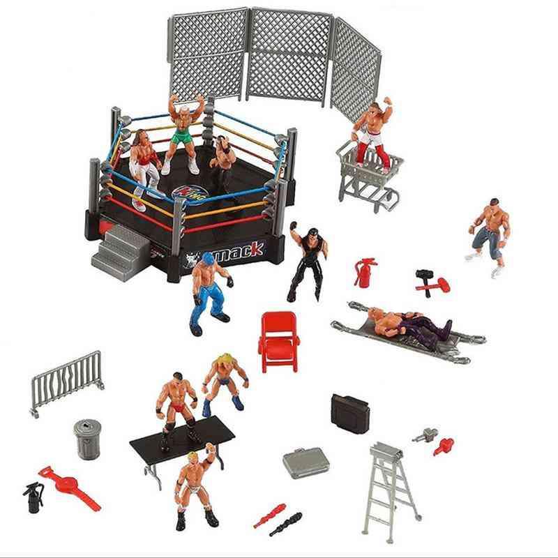 Wrestling Club Wrestler Athlete Gladiator Model Doll Warrior Toy Set