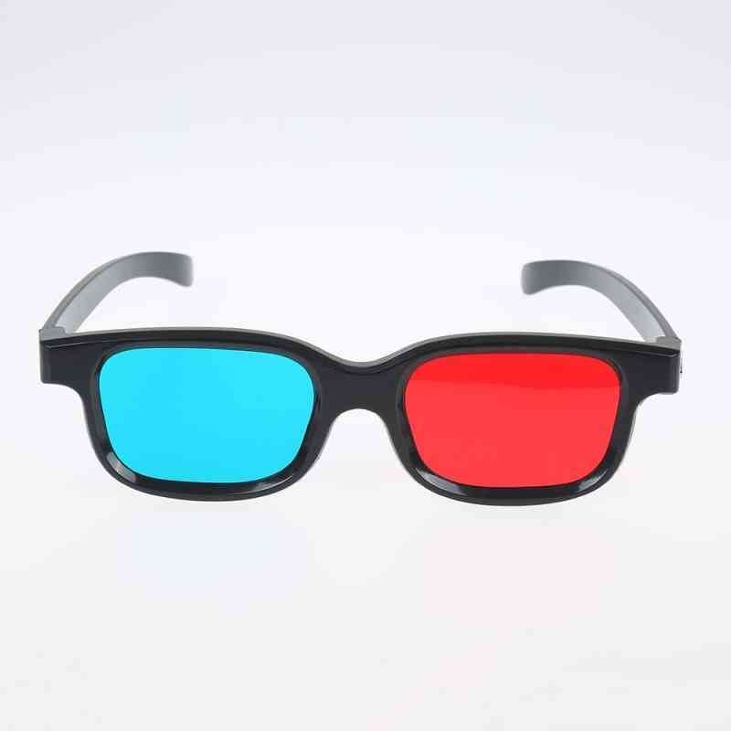 3d Glasses Black Frame For Dimensional Anaglyph Tv Movie Dvd Game Vision/cinema (as The Picture)