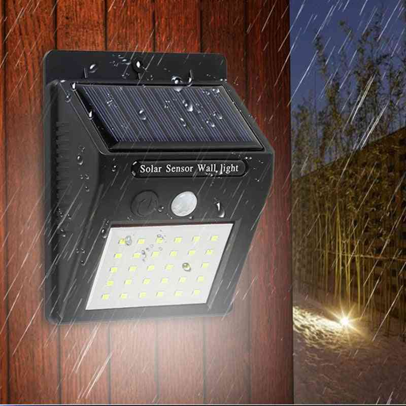 Solar Led Wall Lamp With Waterproof , Motion Sensor For Outdoor Garden, Decoration,  Night Security