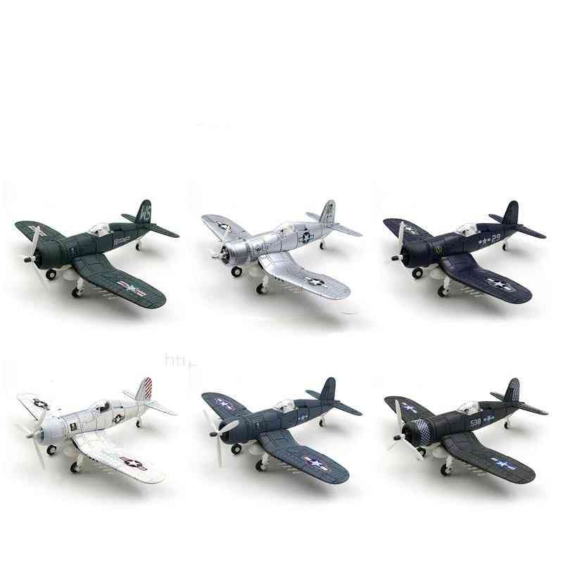 World War Ii Fighter Model B-109 4d Plastic Assemble Aircraft Military Building Toy For