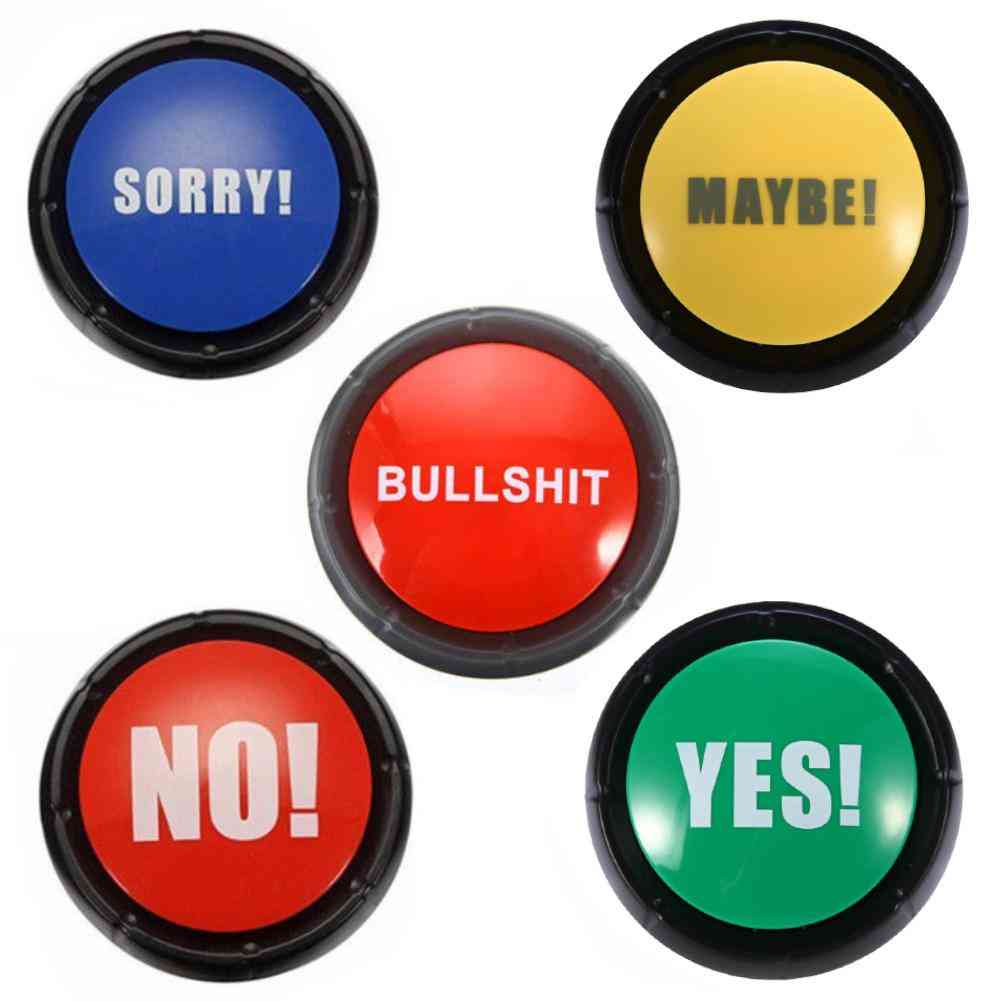 Respond To Phone Bullshit Sound Buttons -  Home, Office, Party Gag Toy For Adult