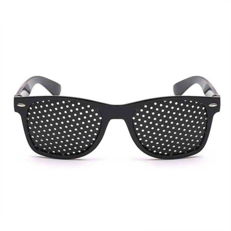 Unisex Vision Care Pin Small Hole Eyeglasses - Exercise Eyesight Improve Plastic Natural Healing