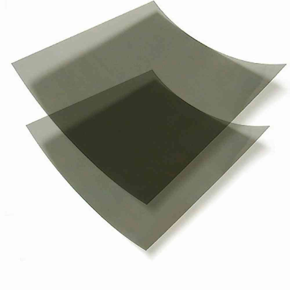 10×10cm 0/90 Degree Linear Polarized Film, Adhesive/non-adhesive Linear Polarizer Filters Polarization Film Sheets