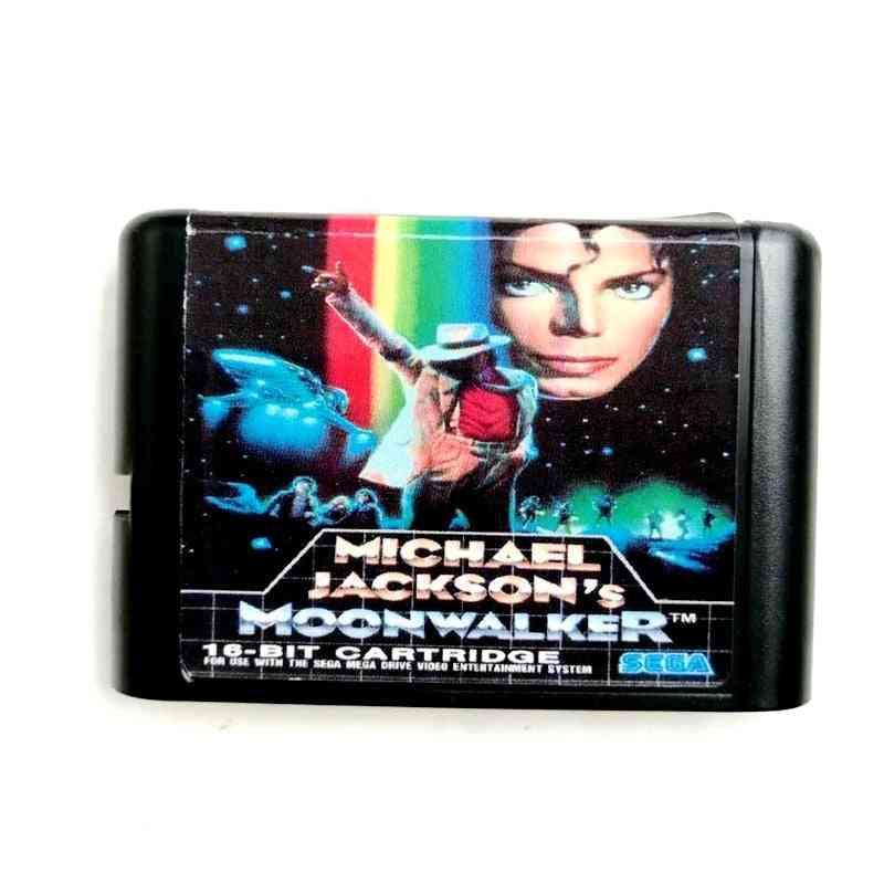 Michael Jackson's Moonwalker 16 Bit Cartridge Game Card
