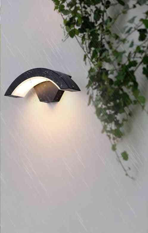 Moden Waterproof Led Motion Sensor Wall Lamp For Landscape, Spotlight, Balcony, Corridor, Garden
