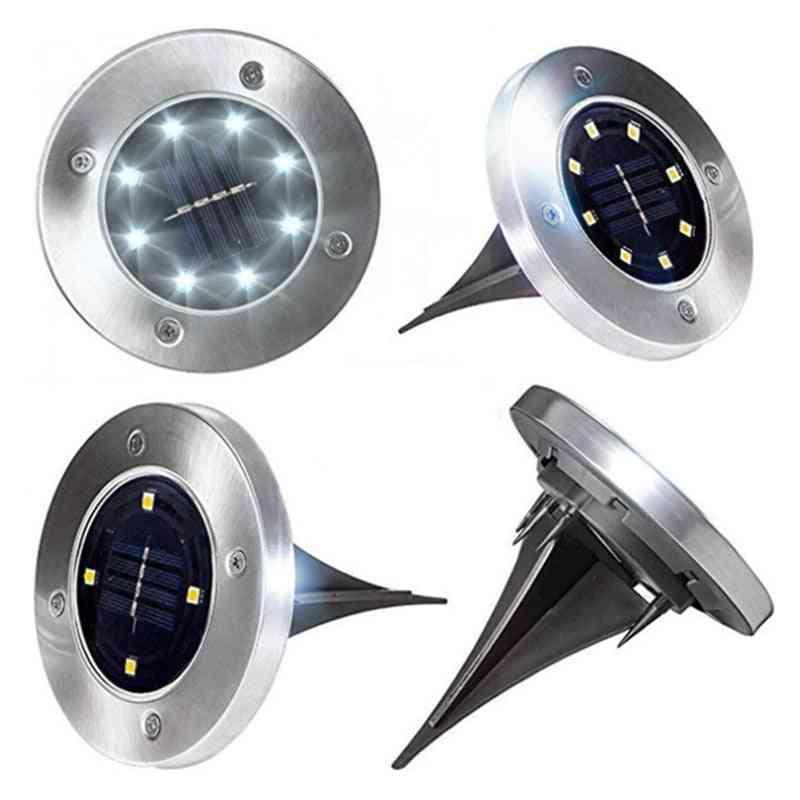 Stainless Steel Led, Ground Light With Light Sensor