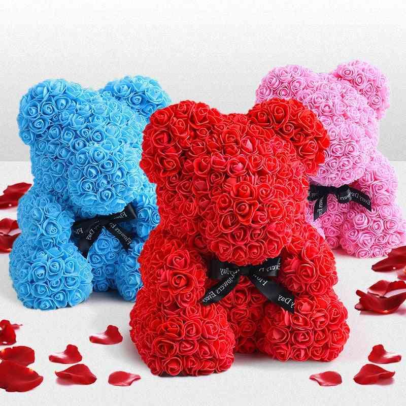 Cute Foam Flowers Rose Bear - Wedding Party Decoration