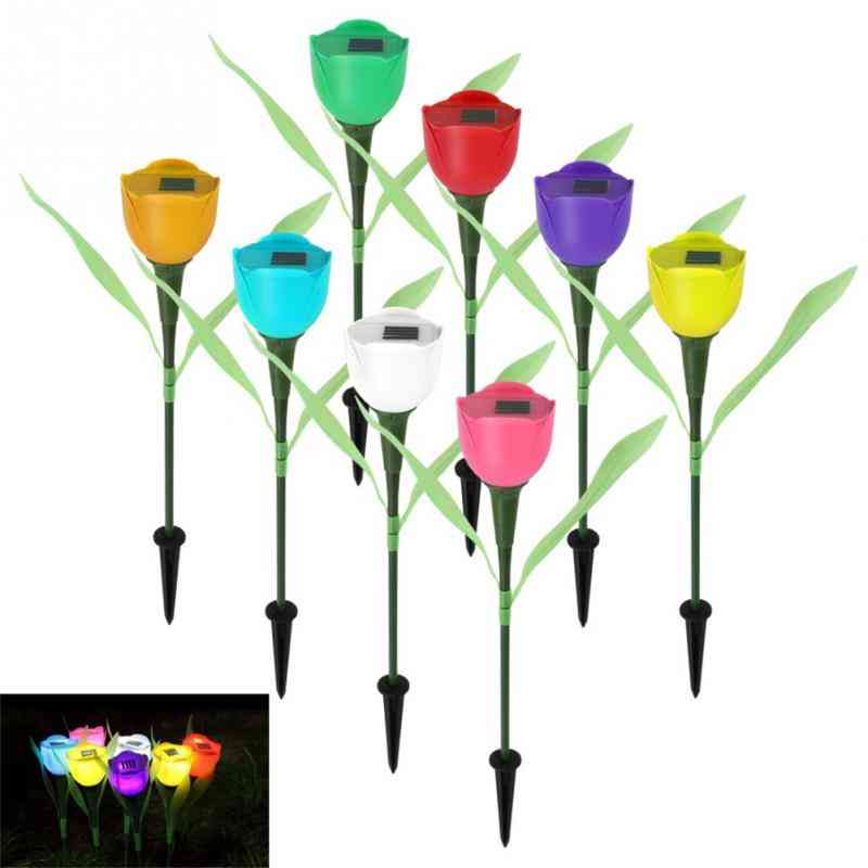 Solarek Tulip Flower Shape Solar Powered Led Lamp