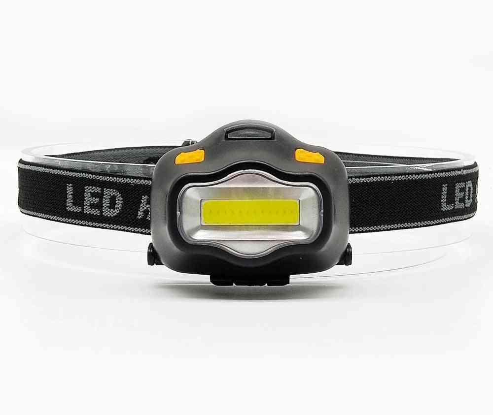 Outdoor Lighting Head Lamp - Mini Cob Led For Camping Hiking, Fishing And Reading