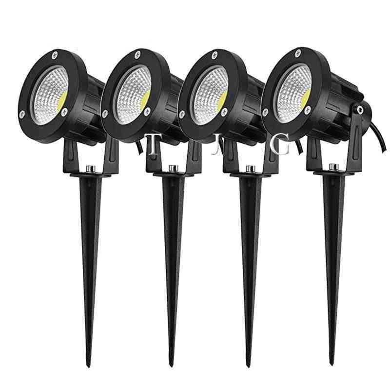 Spike Based Cob Led-lamp Light For Garden, Lawn, Outdoor, Path , Landscape