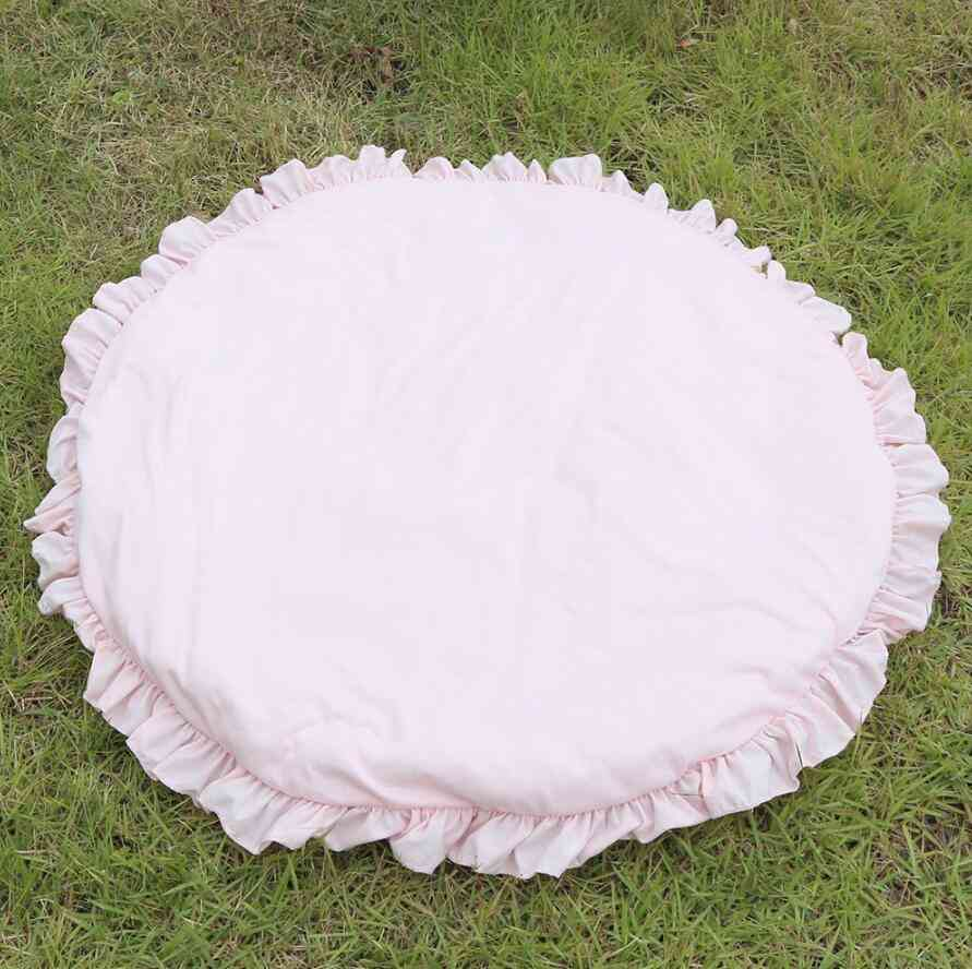 Newborn Baby Padded Play Mats - Game Rugs Round Floor Carpet For