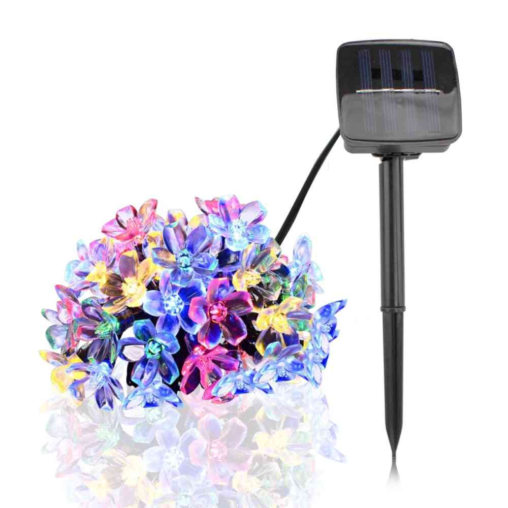 Cherry Blossom Waterproof Led Solar Lights For Garden