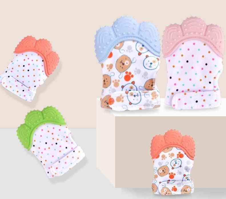 Anti Bite Silicone Molar Gloves - Sound Teether For Newborns