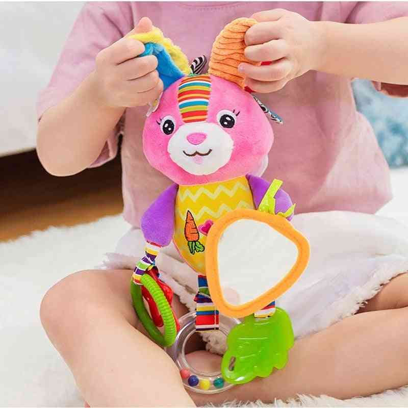Cute Animal Design,  Hanging Bell And Teether For Crib/stroller