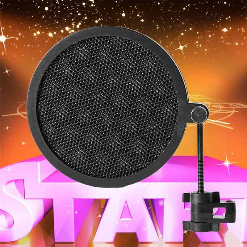 Double Layer, Studio Microphone Mic, Wind Screen For Speaking Recording