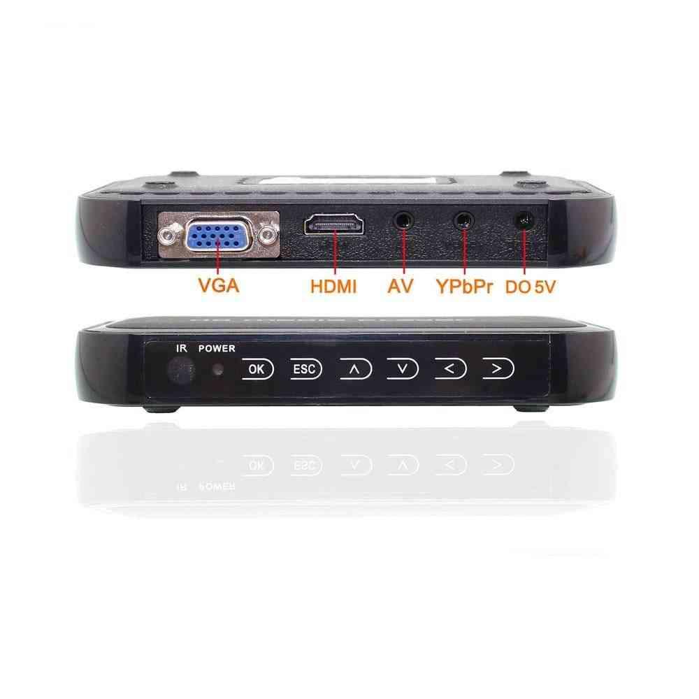 3d/hdd Media Player Full Hd/av Hdmi Vga Sd Usb H.264 Rm Mkv