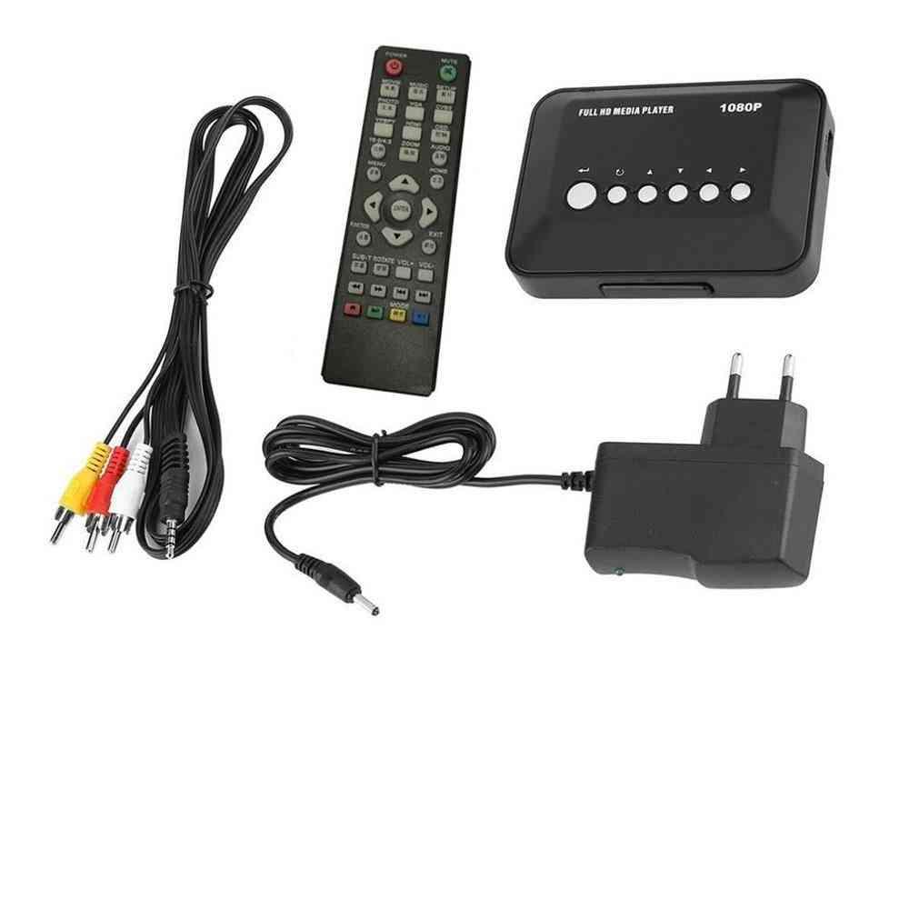 1080p Full Hd  Multi Tv Usb Hdmi Media Player, With Remote Controle