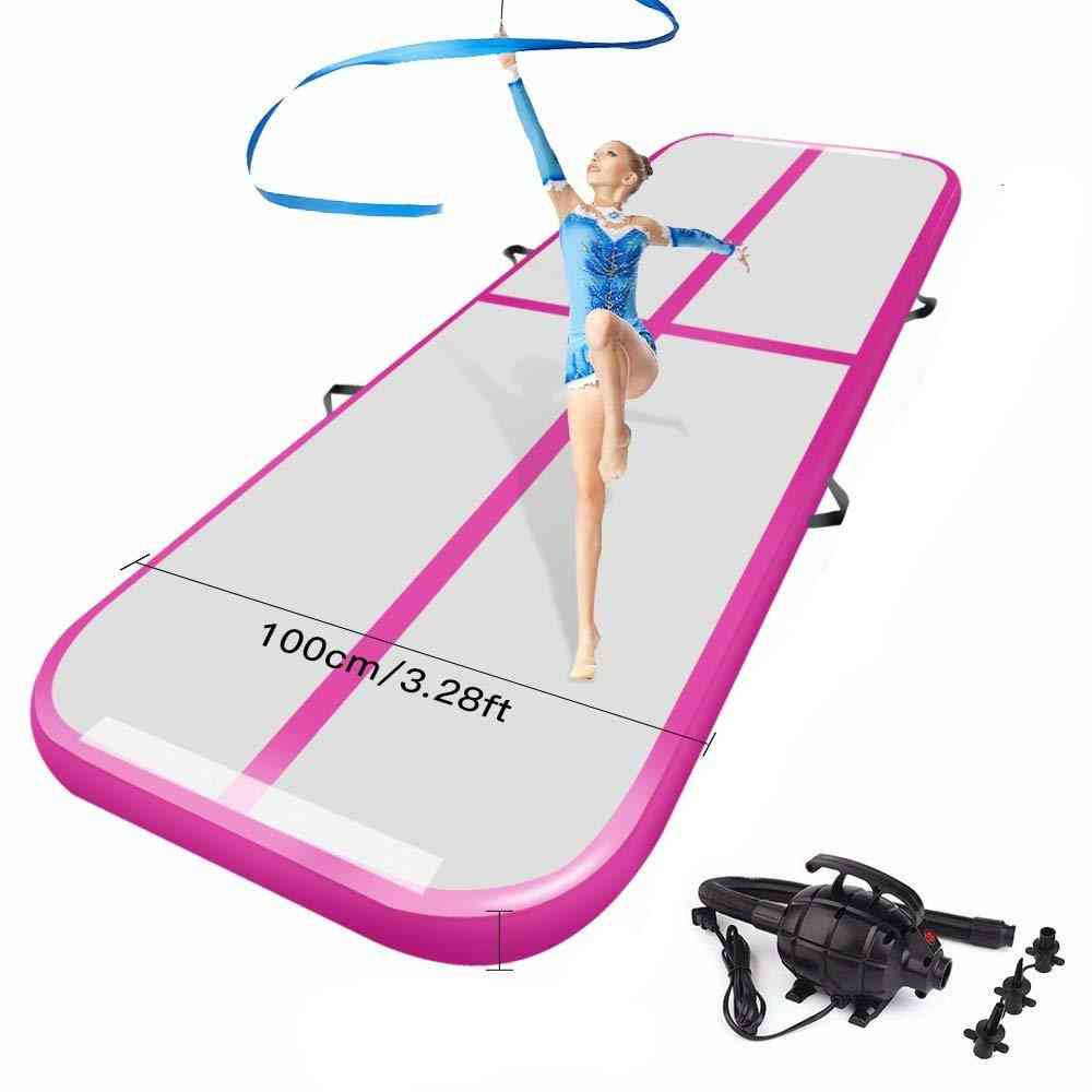 Air Track Tumbling Floor Mat For Gymnastics- Inflatable With Electric Pump