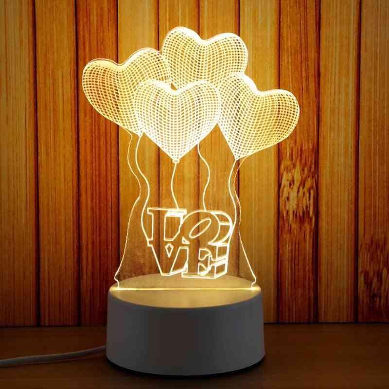 3d Plate Led Novelty Illusion Night Lamp