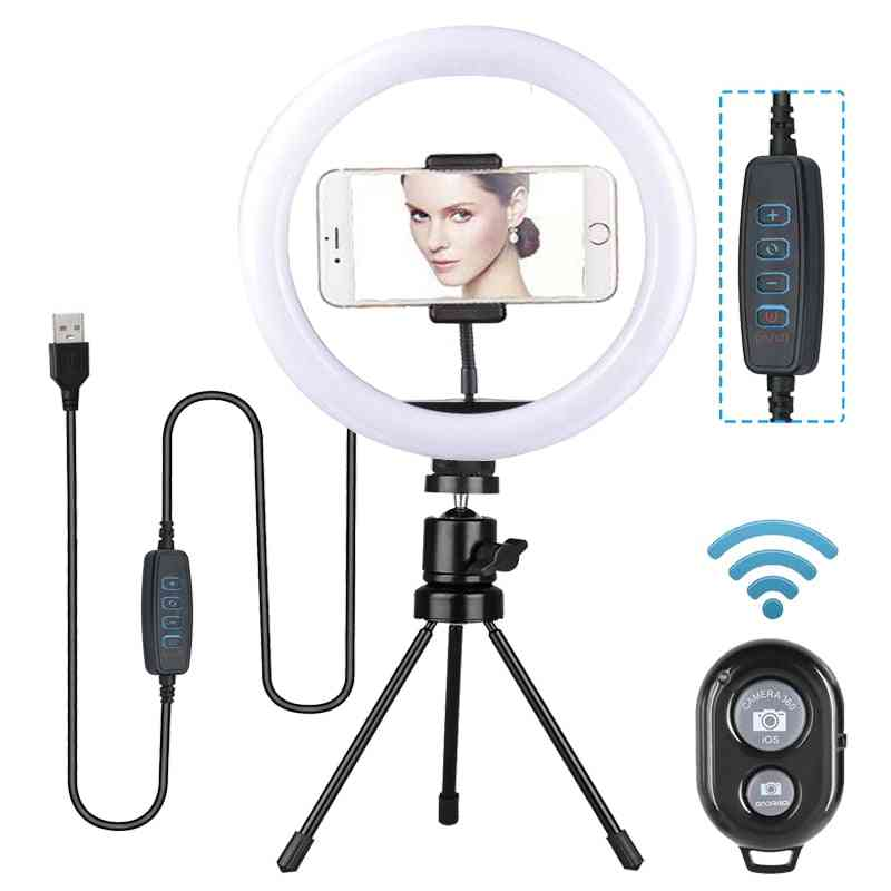7/11inch Dimmable Led Selfie Ring Light With Tripod Stand