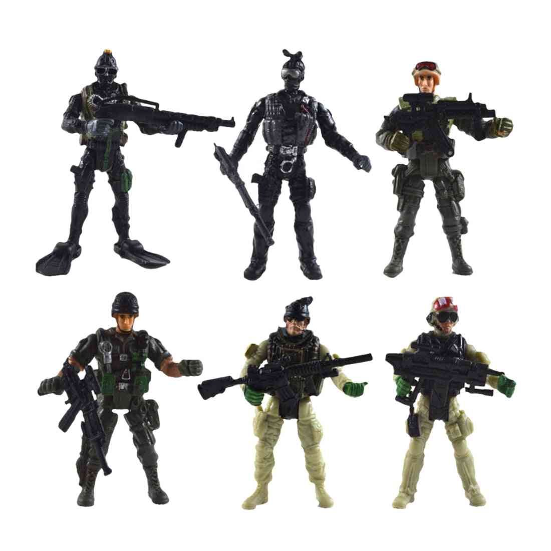 Joint Movable Us Special Forces Military Simulation Soldier Toy With Weapons