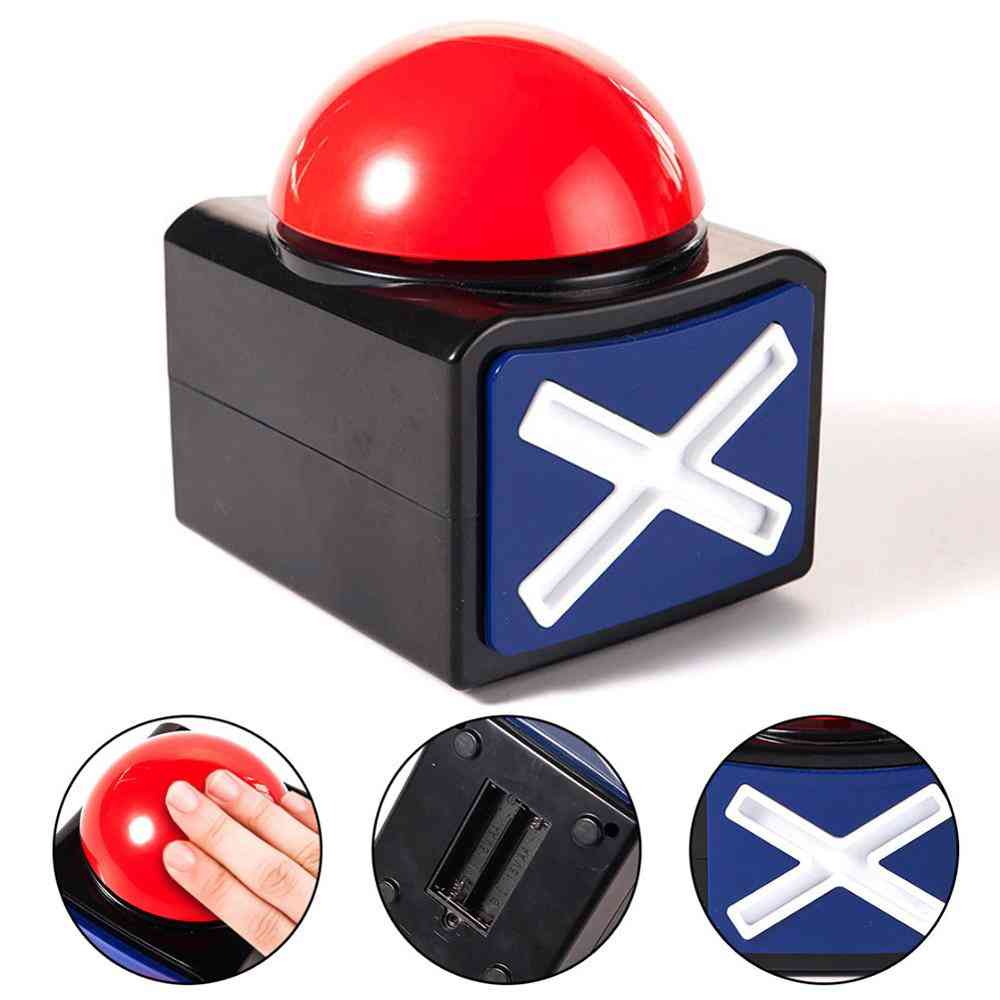Buzzer Alarm Button Box With Yes And No - Sound Light Stimulating Party Contest Prop Toy
