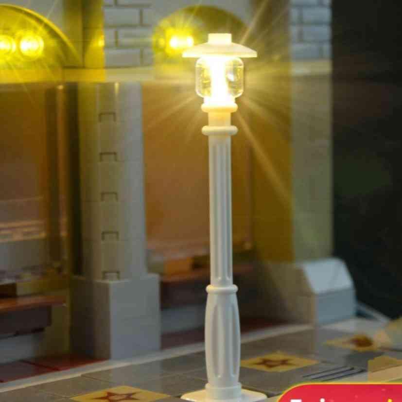 Led Street Light For House Building Block Toy