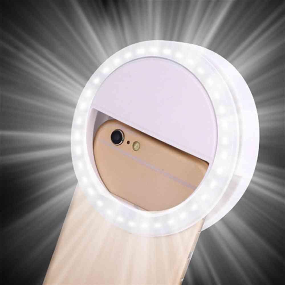 Universaali selfie-led-salamavalo - kannettava matkapuhelin, jossa 36 led-selfie-lamppua