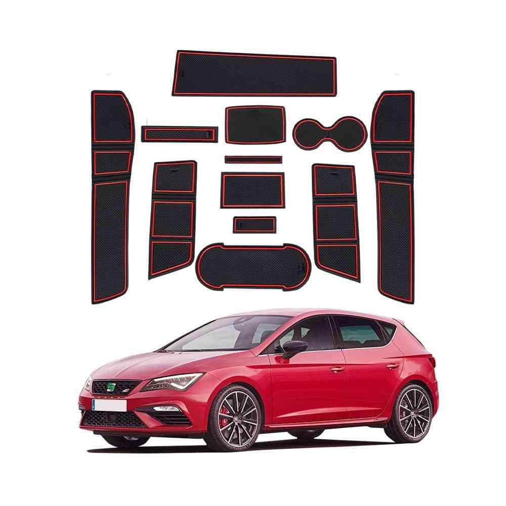12pieces/set Of Anti-slip Car Groove Mat For Leon Cupra 5f