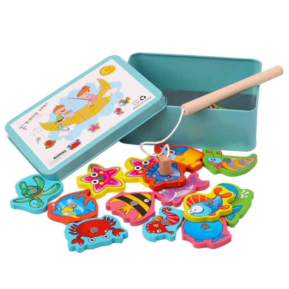 Outdoor Wooden Magnetic Fishing Toy