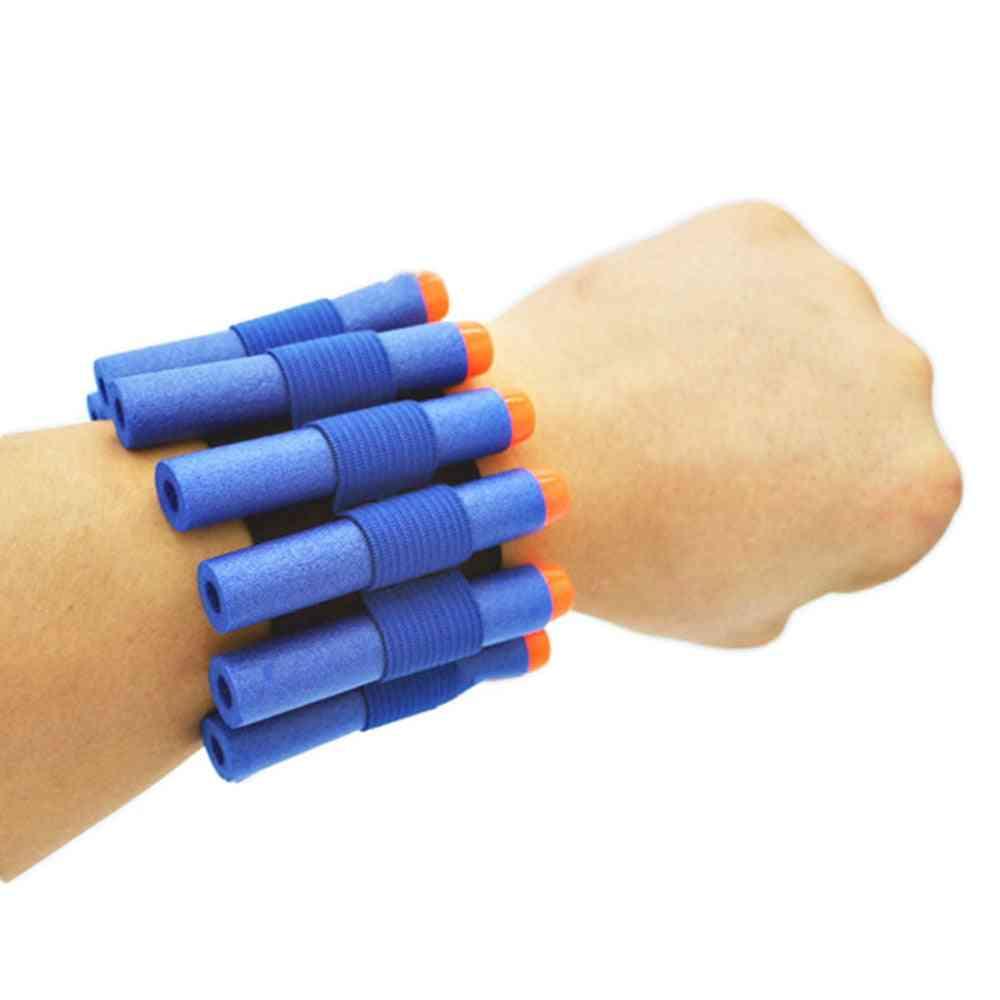 Safety Elastic Wrist Band Storage - Soft Bullets For Nerf Gun Toy