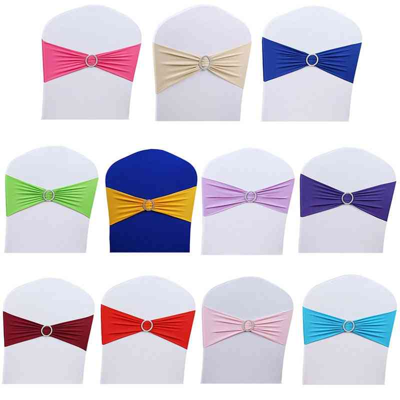 Bow Style, Stretchable Sash With Buckle For Wedding/meeting/banquets Chair Decoration