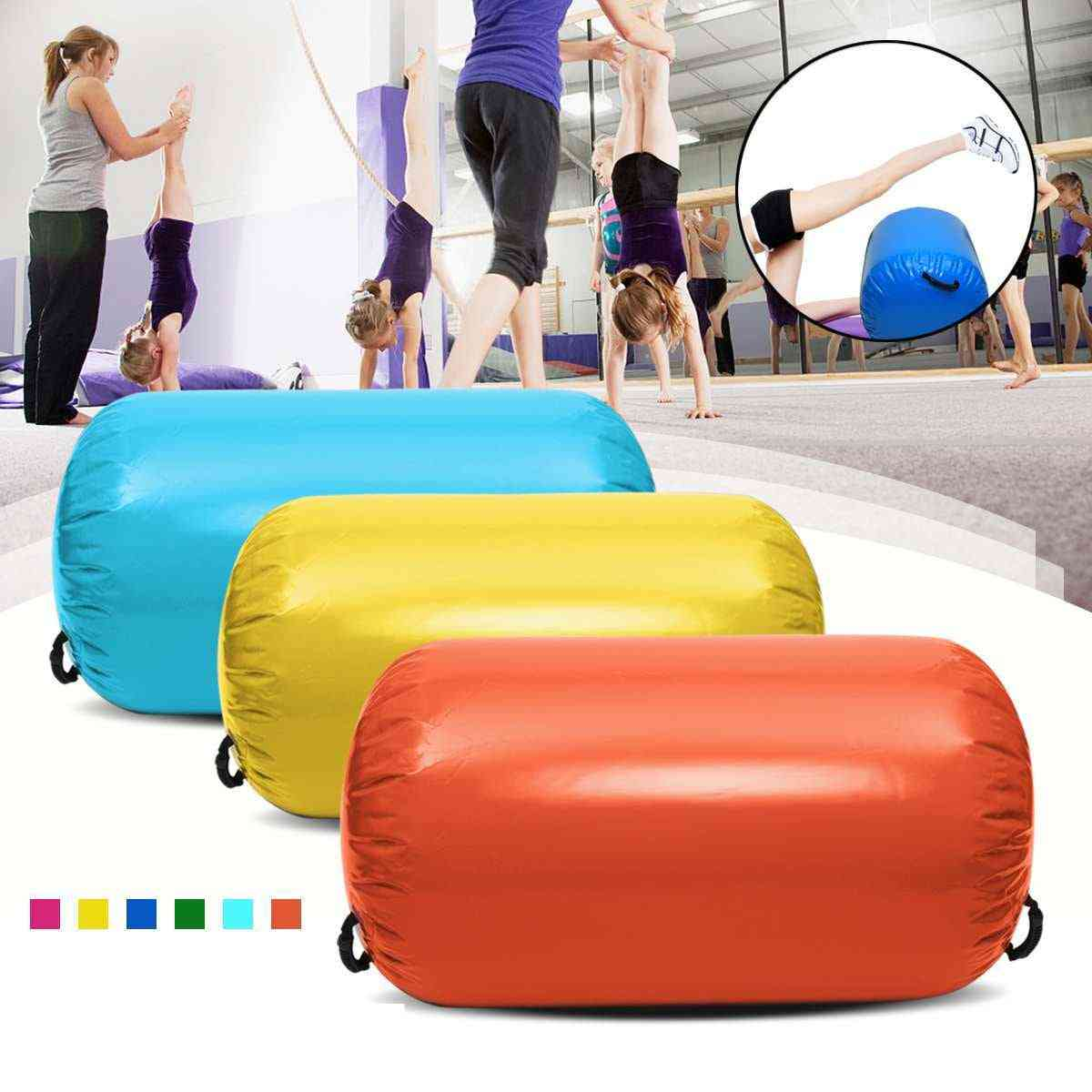 Inflatable Floor Air Mat- Round Column For Gym Amd Home Exercise