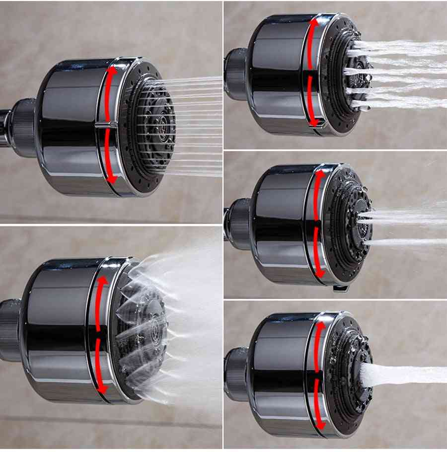 Multifunction Adjustable Rain Shower Head With 7 Output Water Mode