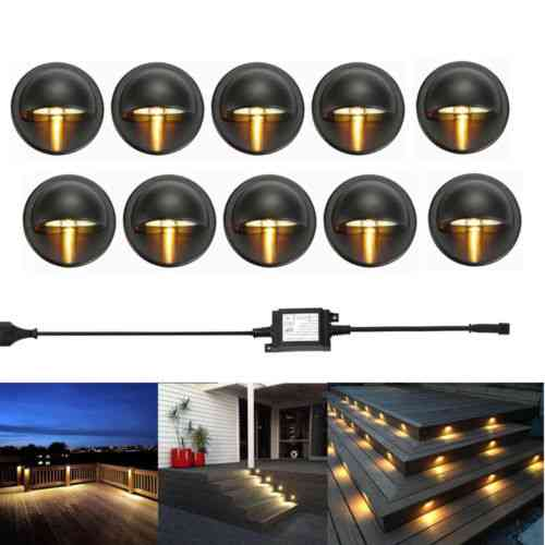 Half Moon Shape, Led Lights Lamps For Outdoor Garden, Yard, Fence And Stair Deck