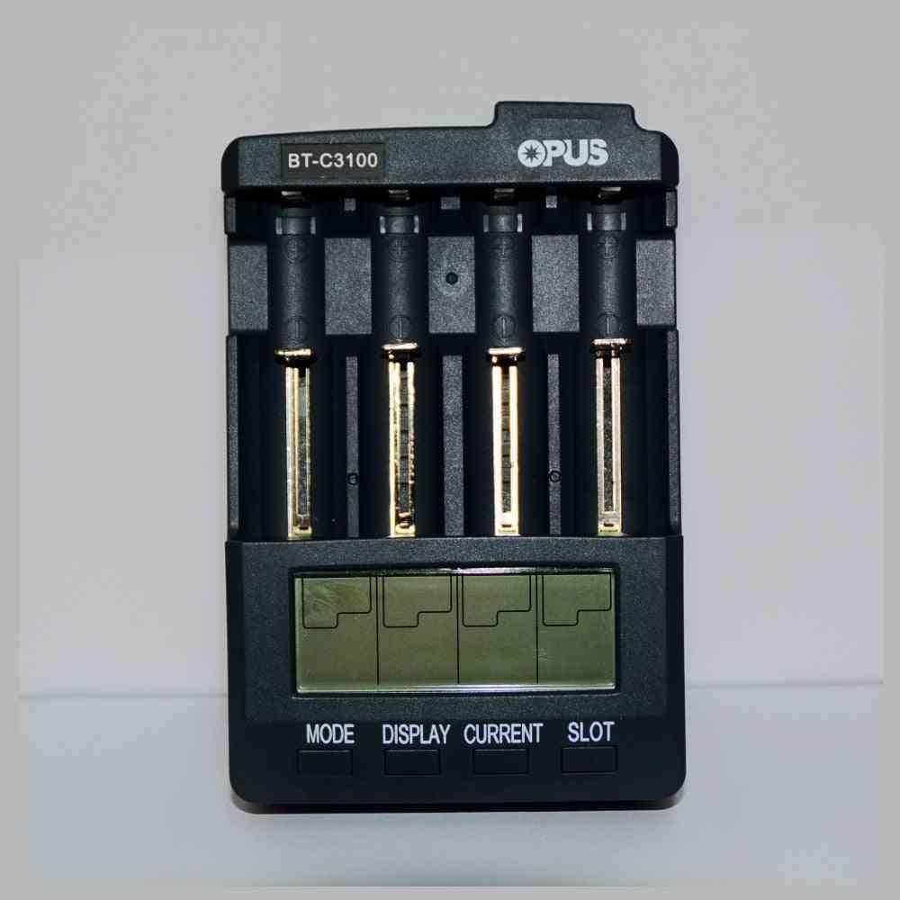 Bt-c3100 Digital Intelligent 4 Slots Lcd Battery Charger For Li-ion/nicd/nimh/aa/aaa/10440/18650