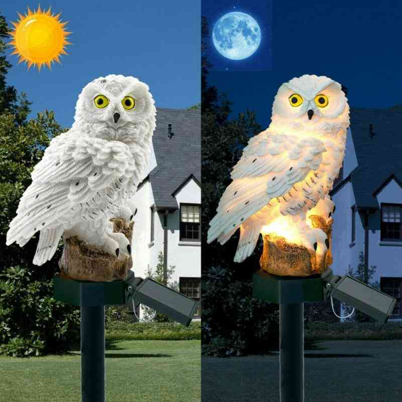 Solar Powered, Owl And Cat Shape-led Light Outdoors Lamp
