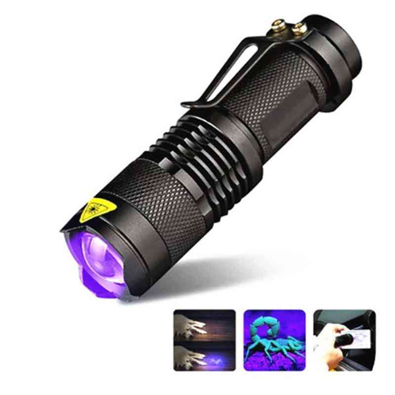 Ultraviolet Led Torch Sterilizer Zoomable Pet - Uv Lamp Flashlight