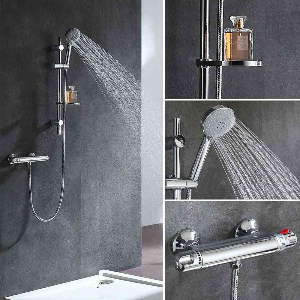 Thermostatic Shower Faucet Set With Knob To Control Water Flow