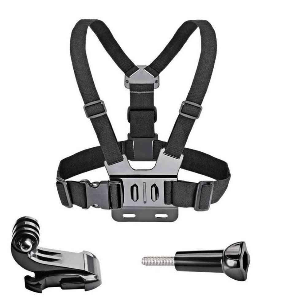 Adjustable Chest Mount Harness Chest Strap Belt For Gopro Hd Hero 8/7/6/5/4/3/ Sj4000/sj5000 Sport Camera