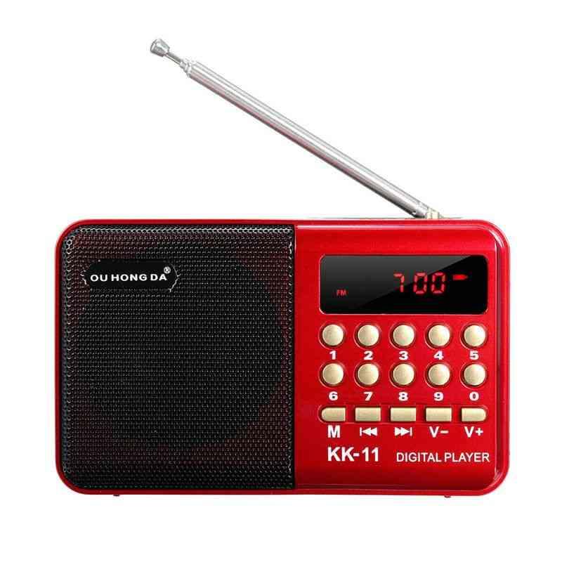 Mini Portable Handheld K11 Radio - Multifunctional Digital Fm Usb Tf Mp3 Player Speaker Devices