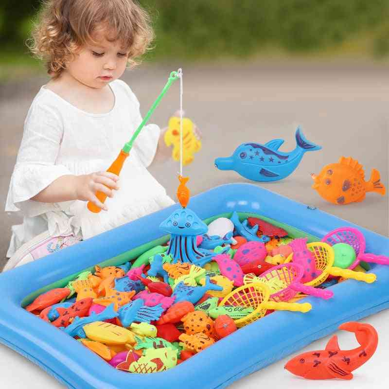 Children's Magnetic Fishing Toy With Inflatable Pool