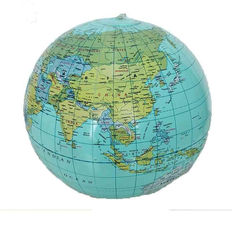 Teach Education Geography, Inflatable World Globe - Map Balloon Beach Ball Toy