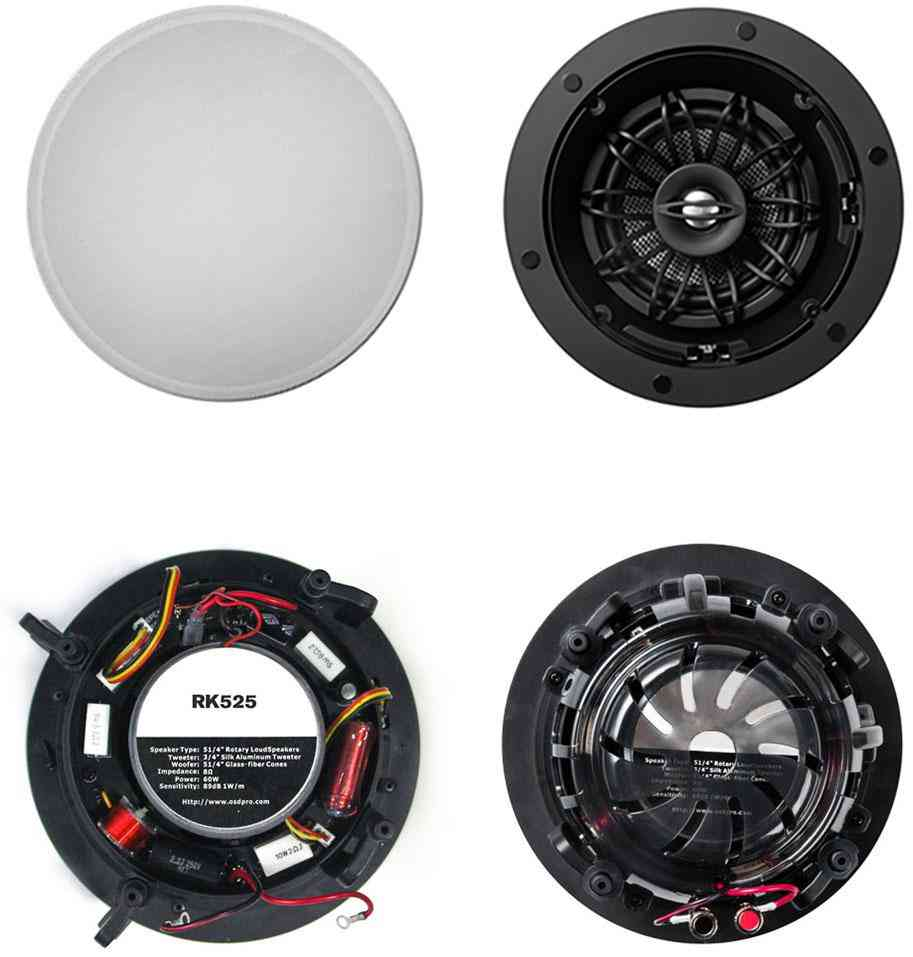 In Ceiling Speakers With Pivotaing And Rotating Woofer / Tweeter