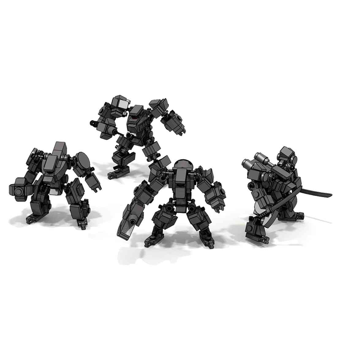 Mini Mecha Fighting Warfare Soldier - Model Assembly Small Particle Building Blocks Educational Toy Set