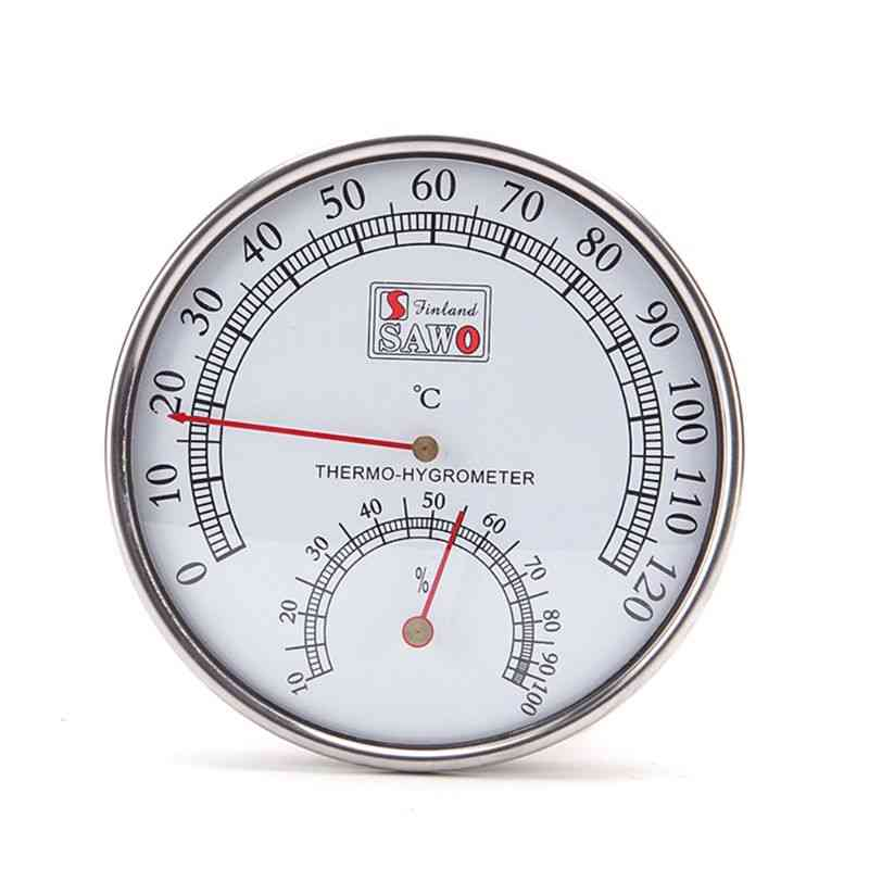 Stainless Steel Case Steam Sauna Room Thermometer / Hygrometer