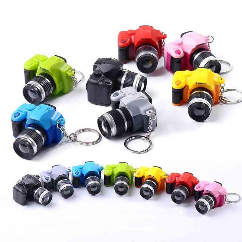 Digital Camera Keychain - Luminous Sound Flashlight Pendant Bag Toy